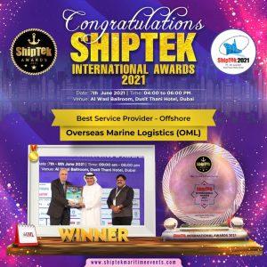 SHIPTEK INTERNATIONAL AWARDS 2021